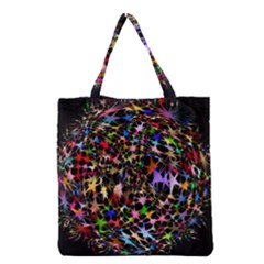 Network Integration Intertwined Grocery Tote Bag