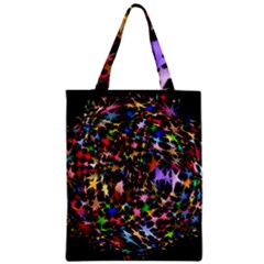 Network Integration Intertwined Zipper Classic Tote Bag