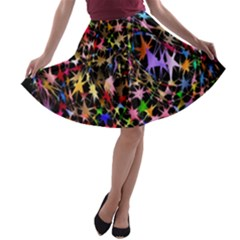 Network Integration Intertwined A-line Skater Skirt