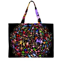Network Integration Intertwined Large Tote Bag
