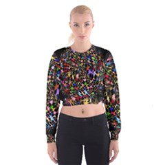 Network Integration Intertwined Cropped Sweatshirt