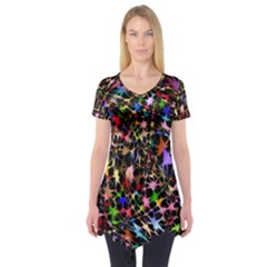 Network Integration Intertwined Short Sleeve Tunic