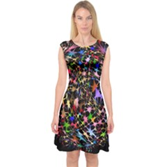 Network Integration Intertwined Capsleeve Midi Dress