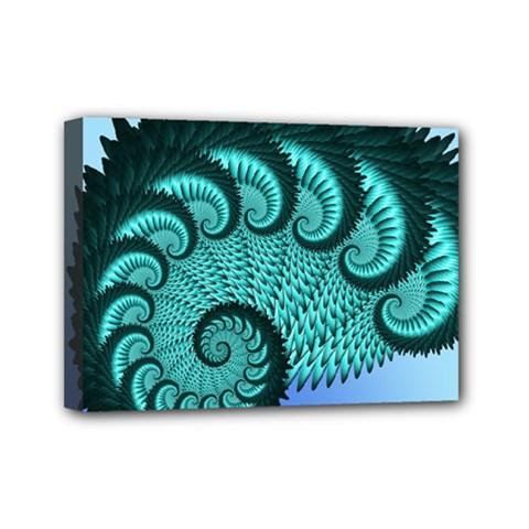 Fractals Texture Abstract Mini Canvas 7  X 5