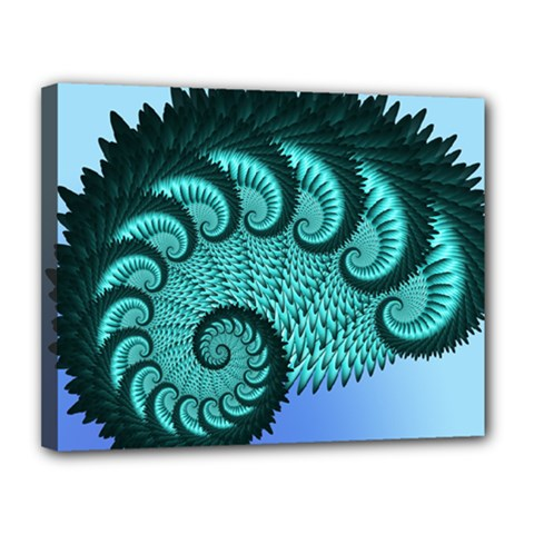 Fractals Texture Abstract Canvas 14  x 11