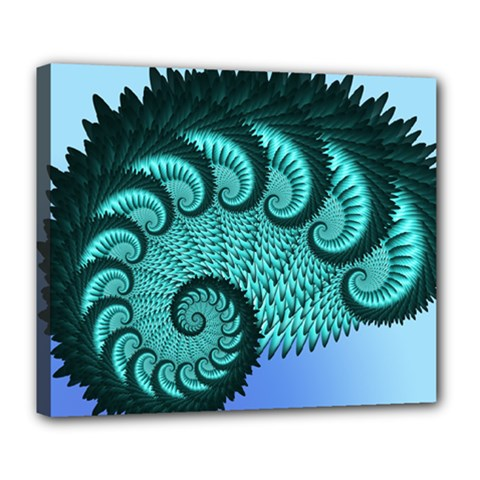 Fractals Texture Abstract Deluxe Canvas 24  X 20