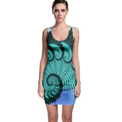 Fractals Texture Abstract Sleeveless Bodycon Dress