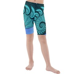 Fractals Texture Abstract Kids  Mid Length Swim Shorts