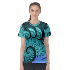 Fractals Texture Abstract Women s Sport Mesh Tee