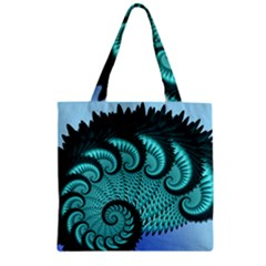 Fractals Texture Abstract Zipper Grocery Tote Bag