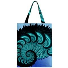 Fractals Texture Abstract Zipper Classic Tote Bag