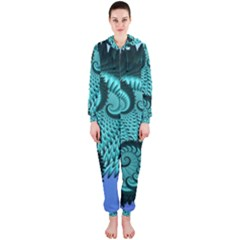 Fractals Texture Abstract Hooded Jumpsuit (Ladies)