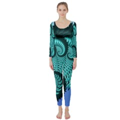 Fractals Texture Abstract Long Sleeve Catsuit