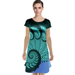 Fractals Texture Abstract Cap Sleeve Nightdress