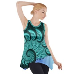 Fractals Texture Abstract Side Drop Tank Tunic