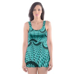 Fractals Texture Abstract Skater Dress Swimsuit