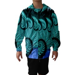 Fractals Texture Abstract Hooded Wind Breaker (Kids)