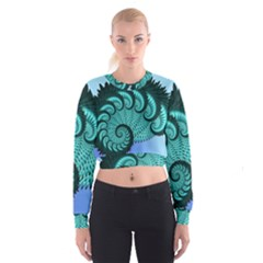 Fractals Texture Abstract Cropped Sweatshirt