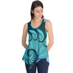 Fractals Texture Abstract Sleeveless Tunic