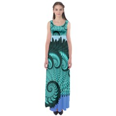 Fractals Texture Abstract Empire Waist Maxi Dress