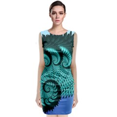 Fractals Texture Abstract Classic Sleeveless Midi Dress