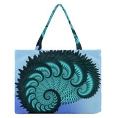Fractals Texture Abstract Medium Zipper Tote Bag