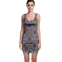 Vintage Abstract Unique Original Sleeveless Bodycon Dress
