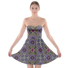 Vintage Abstract Unique Original Strapless Bra Top Dress