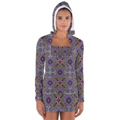 Vintage Abstract Unique Original Women s Long Sleeve Hooded T Shirt
