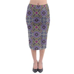 Vintage Abstract Unique Original Midi Pencil Skirt