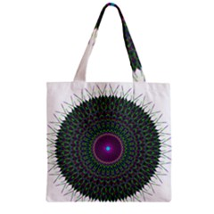 Pattern District Background Zipper Grocery Tote Bag