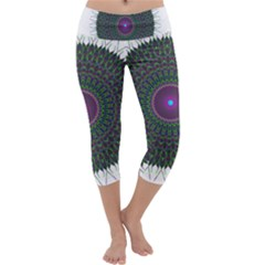 Pattern District Background Capri Yoga Leggings