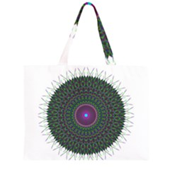 Pattern District Background Zipper Large Tote Bag