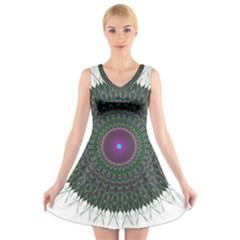 Pattern District Background V-Neck Sleeveless Skater Dress