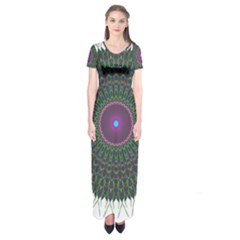 Pattern District Background Short Sleeve Maxi Dress