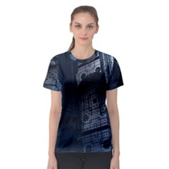 Graphic Design Background Women s Sport Mesh Tee