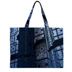 Graphic Design Background Zipper Large Tote Bag