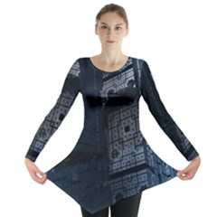 Graphic Design Background Long Sleeve Tunic
