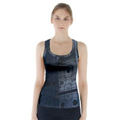 Graphic Design Background Racer Back Sports Top