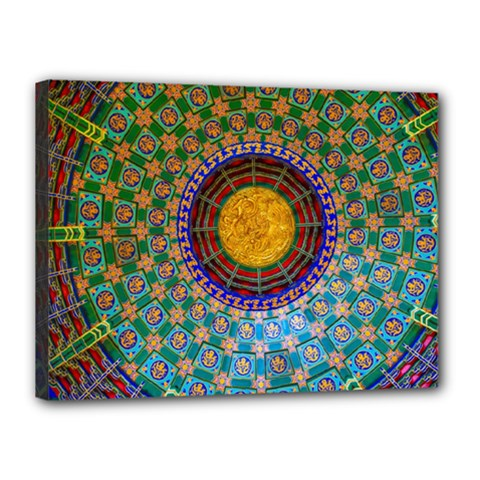 Temple Abstract Ceiling Chinese Canvas 16  x 12