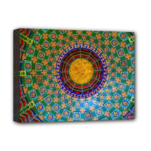 Temple Abstract Ceiling Chinese Deluxe Canvas 16  X 12