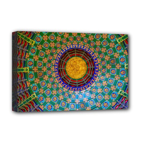 Temple Abstract Ceiling Chinese Deluxe Canvas 18  x 12