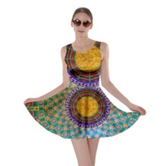 Temple Abstract Ceiling Chinese Skater Dress