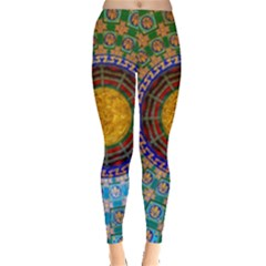 Temple Abstract Ceiling Chinese Leggings