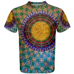 Temple Abstract Ceiling Chinese Men s Cotton Tee