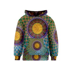 Temple Abstract Ceiling Chinese Kids  Pullover Hoodie
