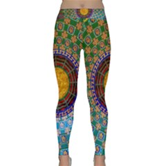 Temple Abstract Ceiling Chinese Classic Yoga Leggings
