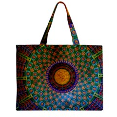 Temple Abstract Ceiling Chinese Zipper Mini Tote Bag