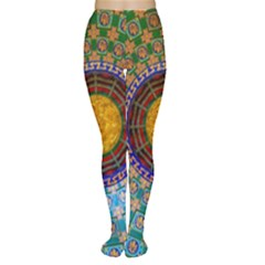 Temple Abstract Ceiling Chinese Women s Tights