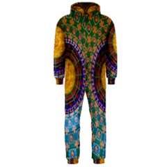 Temple Abstract Ceiling Chinese Hooded Jumpsuit (Men)